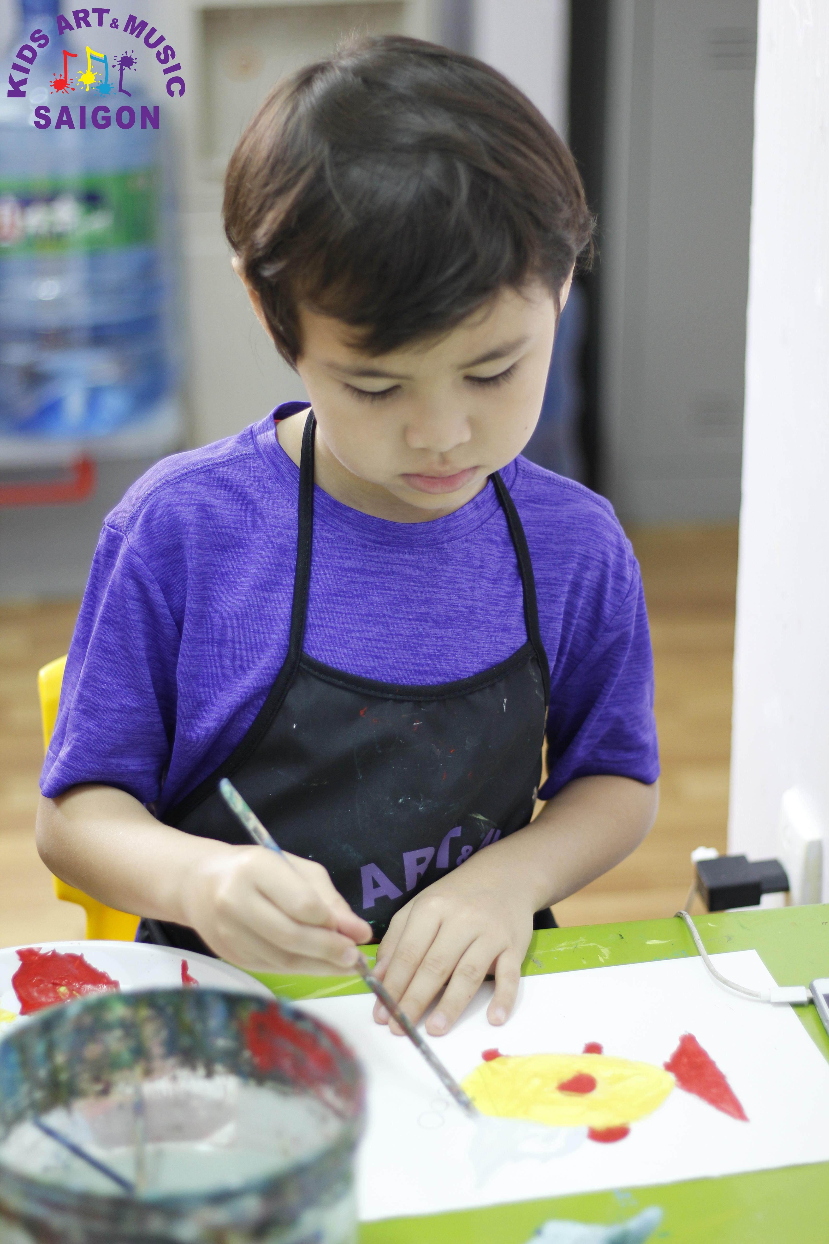 Lớp dạy vẽ cho trẻ em - Kids Art & Music Saigon TP.HCM hình ảnh 6