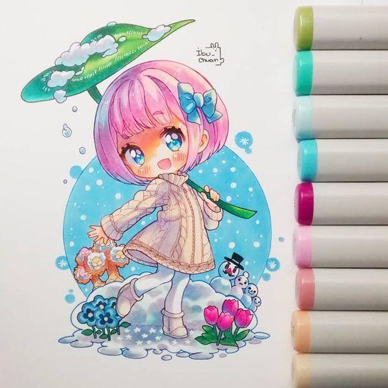 tham khảo một số hình vẽ chibi cute hình ảnh 7