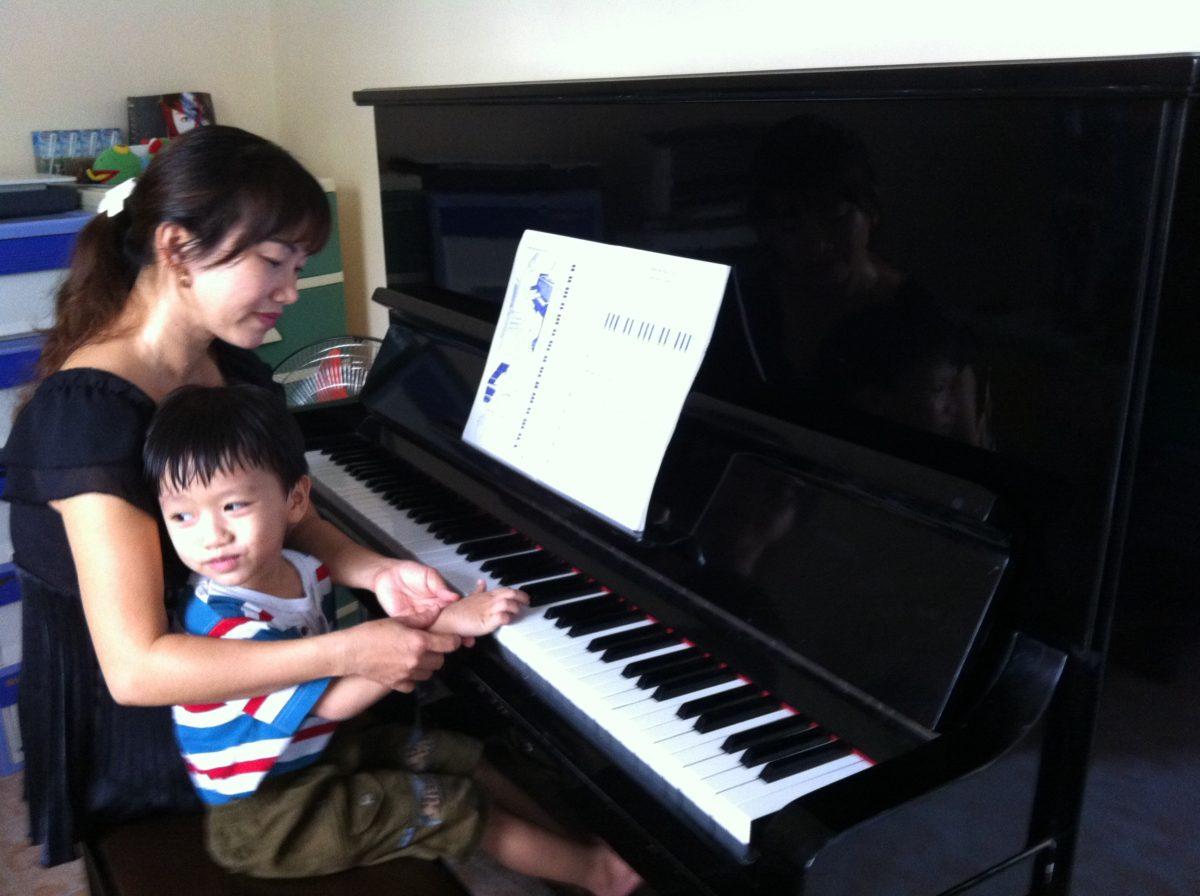 Sức hút đến từ những lớp học đàn piano ở quận Tân Phú