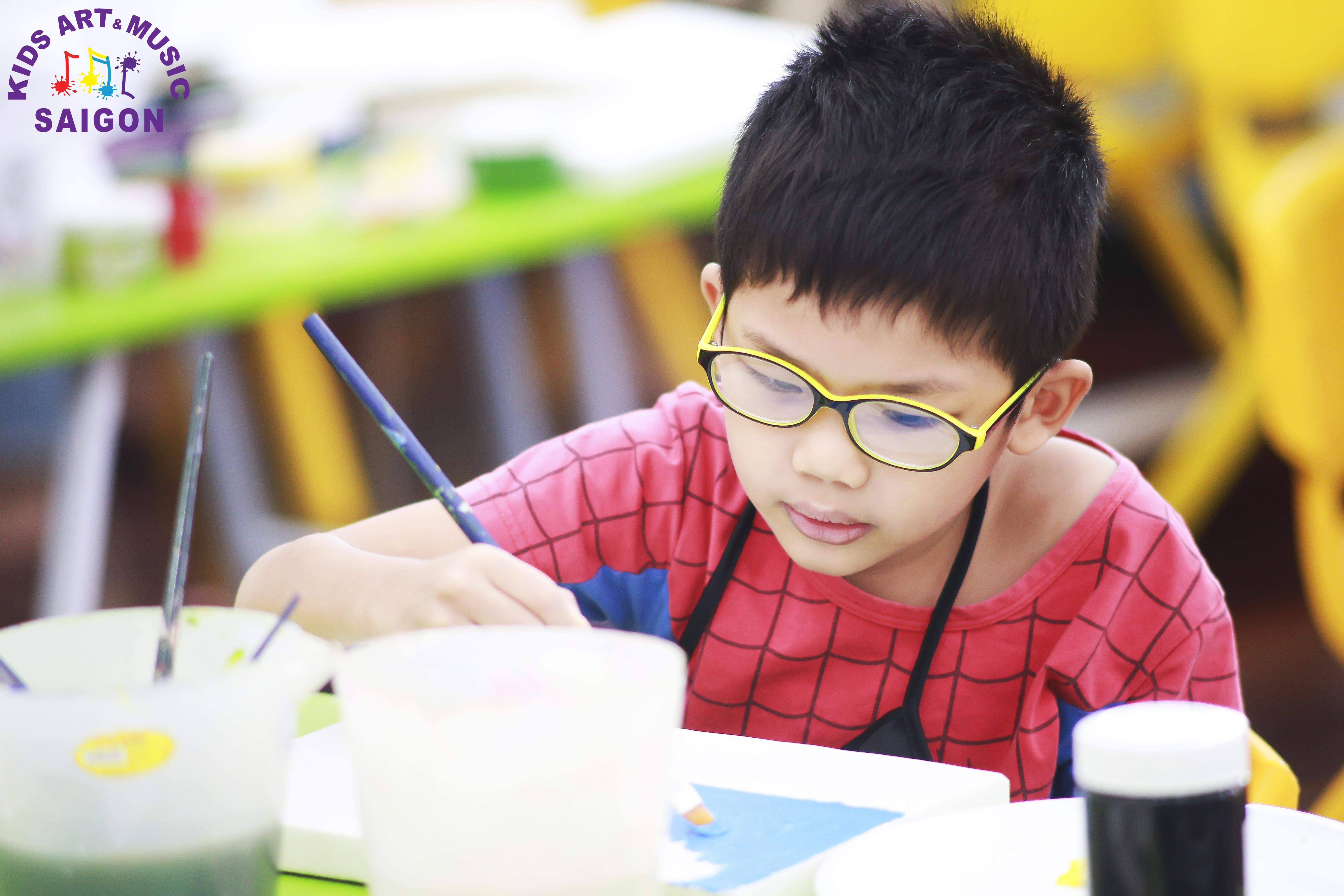 Lớp dạy vẽ cho trẻ em - Kids Art & Music Saigon TP.HCM hình ảnh 4