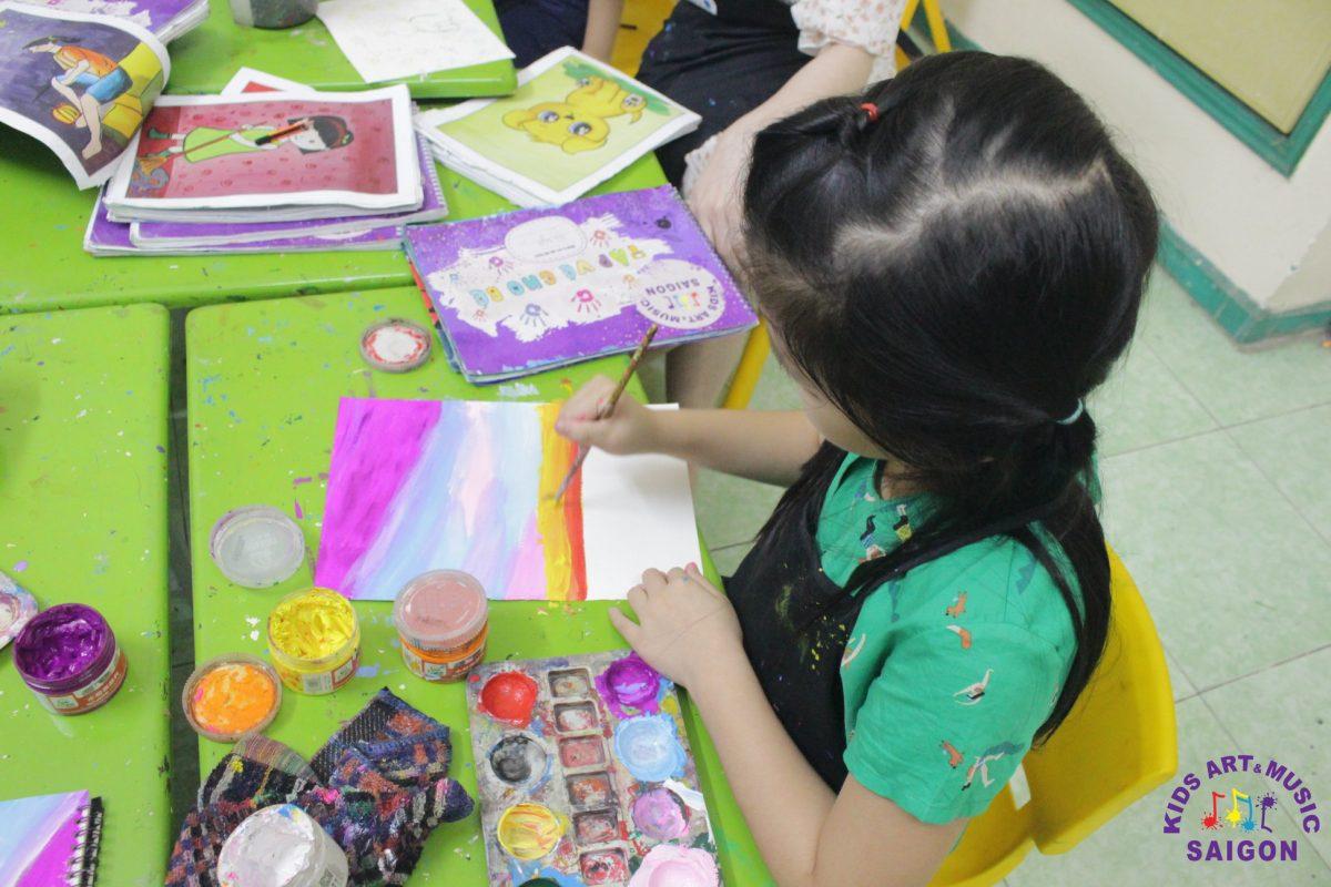 Những lỗi thường gặp khi cho bé học vẽ màu nước