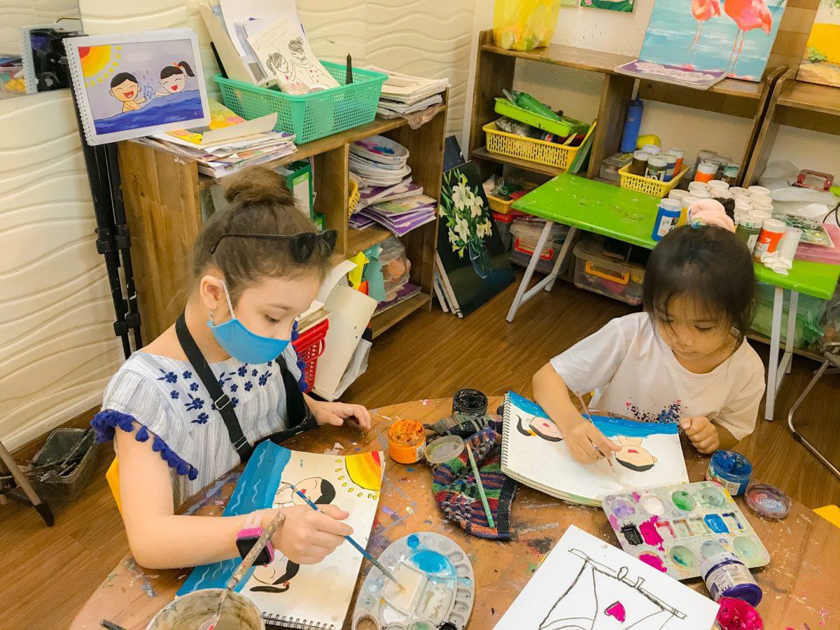Lớp học vẽ cho bé ở quận 1