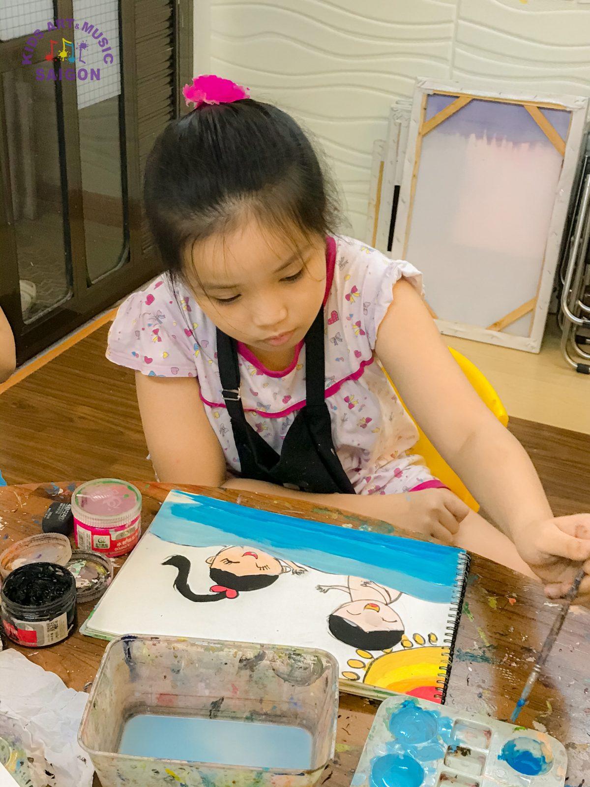 Giúp trẻ tự khám phá cuộc sống bằng cách cho con học vẽ